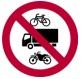 Prohibido el tránsito de motos, bicis y camiones de carga