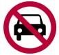 Prohibido el tránsito de vehículos motorizados